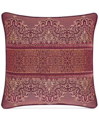 "Ellington Red 20"" Square Decorative Pillow"