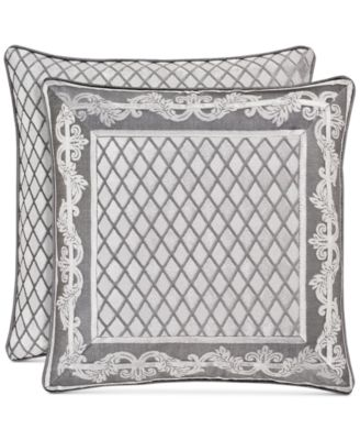 """Bel Air Tufted-Chenille Silver 20"""" Square Decorative Pillow"""