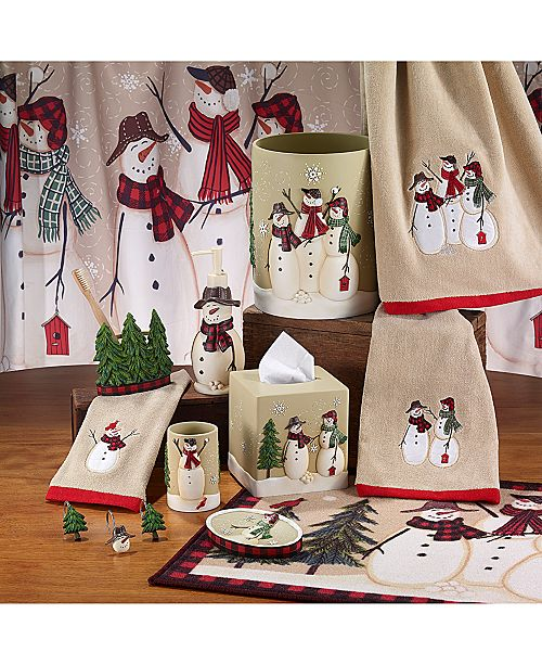 Snowman Gathering Holiday Bath Accessories Collection 8 Reviews Main Image