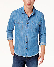BS by Blake Shelton Men's Chambray Shirt, Created for Macy's