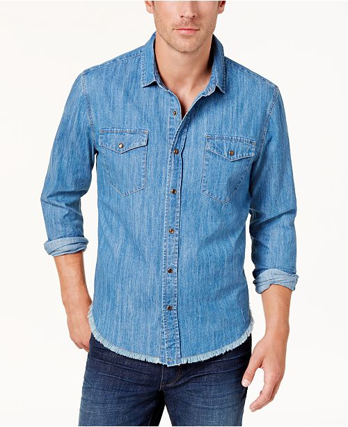 Blake Shelton BS by Men's Chambray Shirt, Created for Macy's