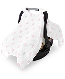 Baby Girls Cotton Doll Printed Car Seat Canopy
