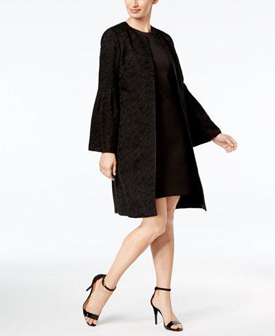 Calvin Klein Bell-Sleeve Jacquard Topper Jacket