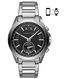 A|X Armani Exchange Men's Connected Stainless Steel Bracelet Hybrid Smart Watch 44mm