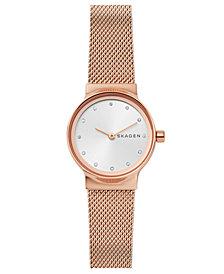 Skagen Women's Freja Rose Gold-Tone Stainless Steel Bracelet Watch 26mm