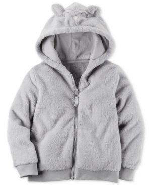 Carters Fuzzy AnimalFace Hoodie Toddler Girls (2T5T)
