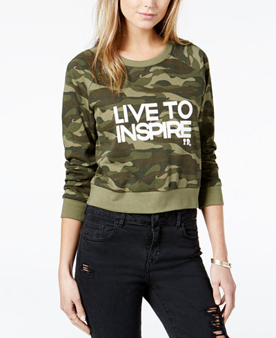 BOY MEETS GIRL. Cotton Live To Inspire Cropped Sweatshirt