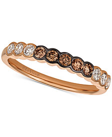 Le Vian® Strawberry & Nude™ Diamond Ring (3/8 ct. t.w.) in 14k Rose Gold