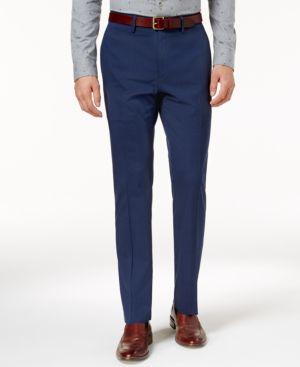 Kenneth Cole Reaction Men's Slim-Fit Stretch Glen Plaid Dress Pants 4845220