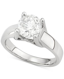 Diamond Solitaire Engagement Ring in 14k White Gold (2 ct. t.w.)