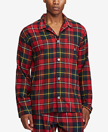Polo Ralph Lauren Men's Cotton Flannel Plaid Pajama Top
