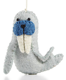 Global Goods Partners Felt Walrus Ornament