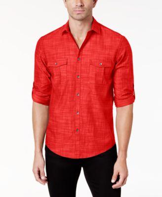 Men's Warren Long Sleeve Shirt, Created for Macy's