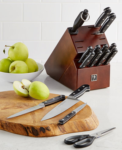 JA Henckels Classic 16 Pc Knife Block Set Created For Macys