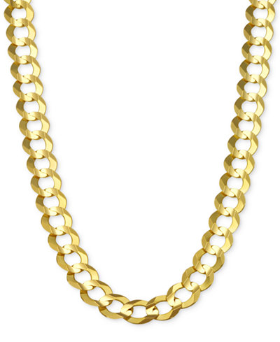 macy necklace this is shop item gold the of fpx in product curb s chain part chains solid mens men