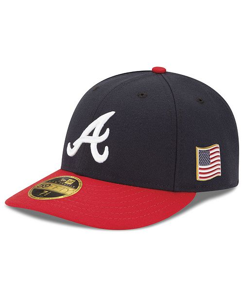 sale retailer 12925 81c3b ... New Era Atlanta Braves Authentic Collection Low Profile 9-11 Patch  59FIFTY Fitted Cap ...