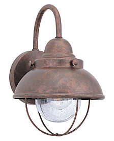 Sea Gull Outdoor Lighting, Sebring Weathered Copper Wall Lantern 16""