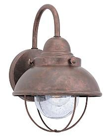 "Sea Gull Outdoor Lighting, Sebring Weathered Copper Wall Lantern 16"""
