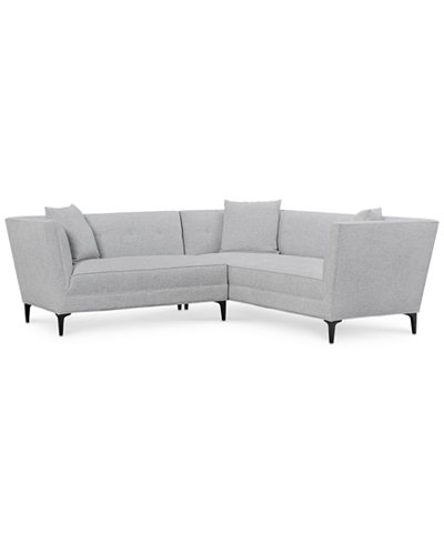 Camilia 2-Pc. Fabric Modular Sectional with Loveseat, Created for Macy's