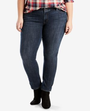 PLUS SIZE 711 SKINNY JEANS, SHORT AND REG INSEAM