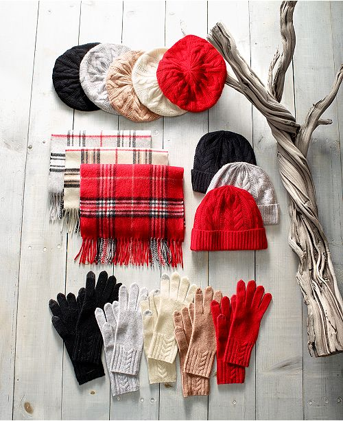 3fa043f232da5 Charter Club Cashmere Cable-Knit Hat