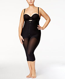 Leonisa Women's  Firm Tummy-Control Sheer-Leg Lace-Trim Bodyshaper 018471