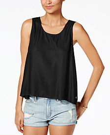 Roxy Juniors' Crochet-Back Tank Top