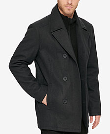 Kenneth Cole Reaction Men's Bibbed Pea Coat