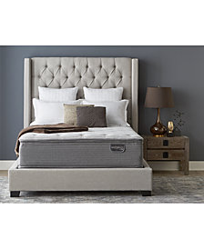 "Serta Masterpiece Leopold 15.5"" Plush Euro Pillow Top Mattress Set - Twin, Created for Macy's"
