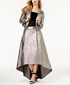 SB by Sachin & Babi Metallic Moto Jacket, Off-The-Shoulder Top &  High-Low Skirt, Created for Macy's