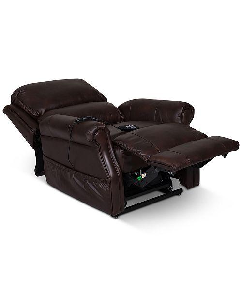 Furniture Raeghan Leather Power Lift Reclining Chair