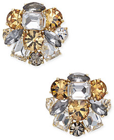 kate spade new york Gold-Tone Multi-Stone Cluster Stud Earrings