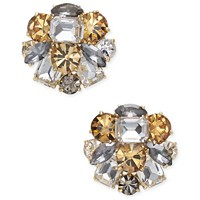 Macys deals on Kate Spade New York Gold-Tone Multi-Stone Cluster Stud Earrings