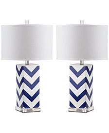 Safavieh Chevron Set of 2 Table Lamps