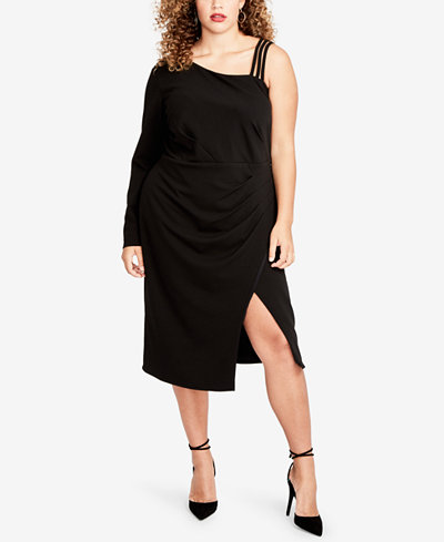 pin aff the plus shopping drapes shoulder dress for me size off draped