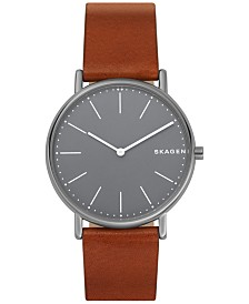 Skagen Signatur Cognac Leather Strap Watch 40mm