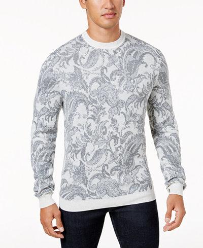 Tasso Elba Men's Paisley Sweater, Created for Macy's