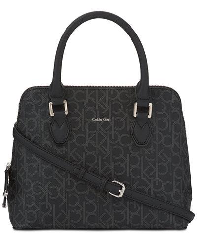 Calvin Klein Ellina Signature Medium Satchel
