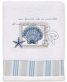 Island View Cotton Embroidered Hand Towel