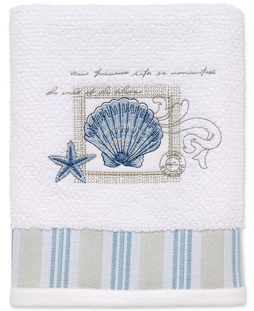 Avanti Island View Cotton Embroidered Hand Towel