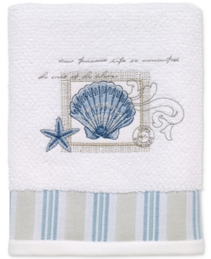Image of Avanti Island View Cotton Embroidered Hand Towel Bedding
