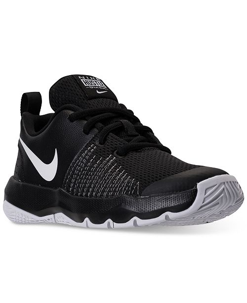f82bdc6f4c85 ... Nike Little Boys  Team Hustle Quick Basketball Sneakers from Finish ...