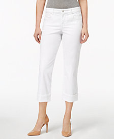 Style & Co Petite Size Curvy Cuffed Capri Jeans, Created for Macy's