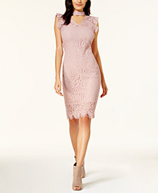 Bar III Lace Choker Dress, Created for Macy's