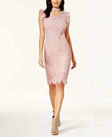 Bar III Lace Choker Dress, Created for Macy's