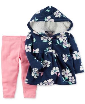 Carters 2Pc Fleece Hoodie  Pants Set Baby Girls (024 months)