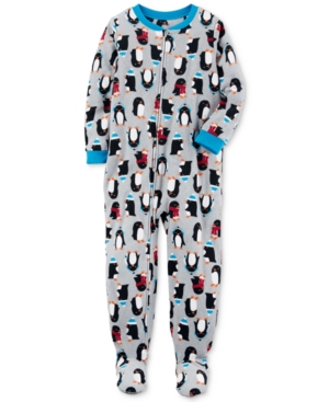 Carters 1Pc PenguinPrint Footed Pajamas Little Boys (47)  Big Boys (820)