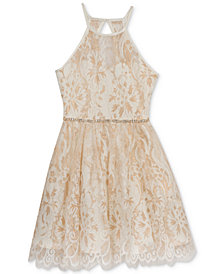 Rare Editions Lace Halter Dress, Big Girls