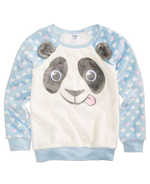 31a870cda86 Evy of California Panda Fuzzy Plush Sweatshirt, Toddler Girls & Reviews