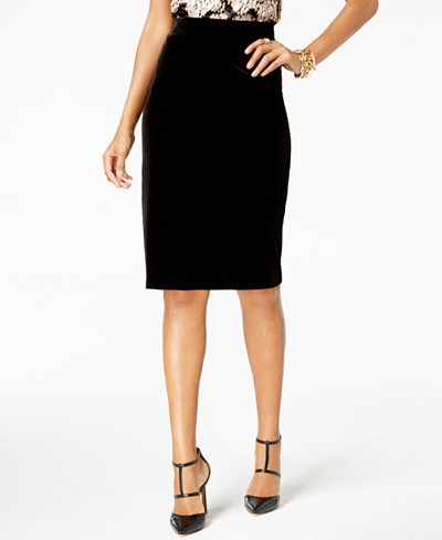 Alfani Velvet Pencil Skirt, Created for Macy's